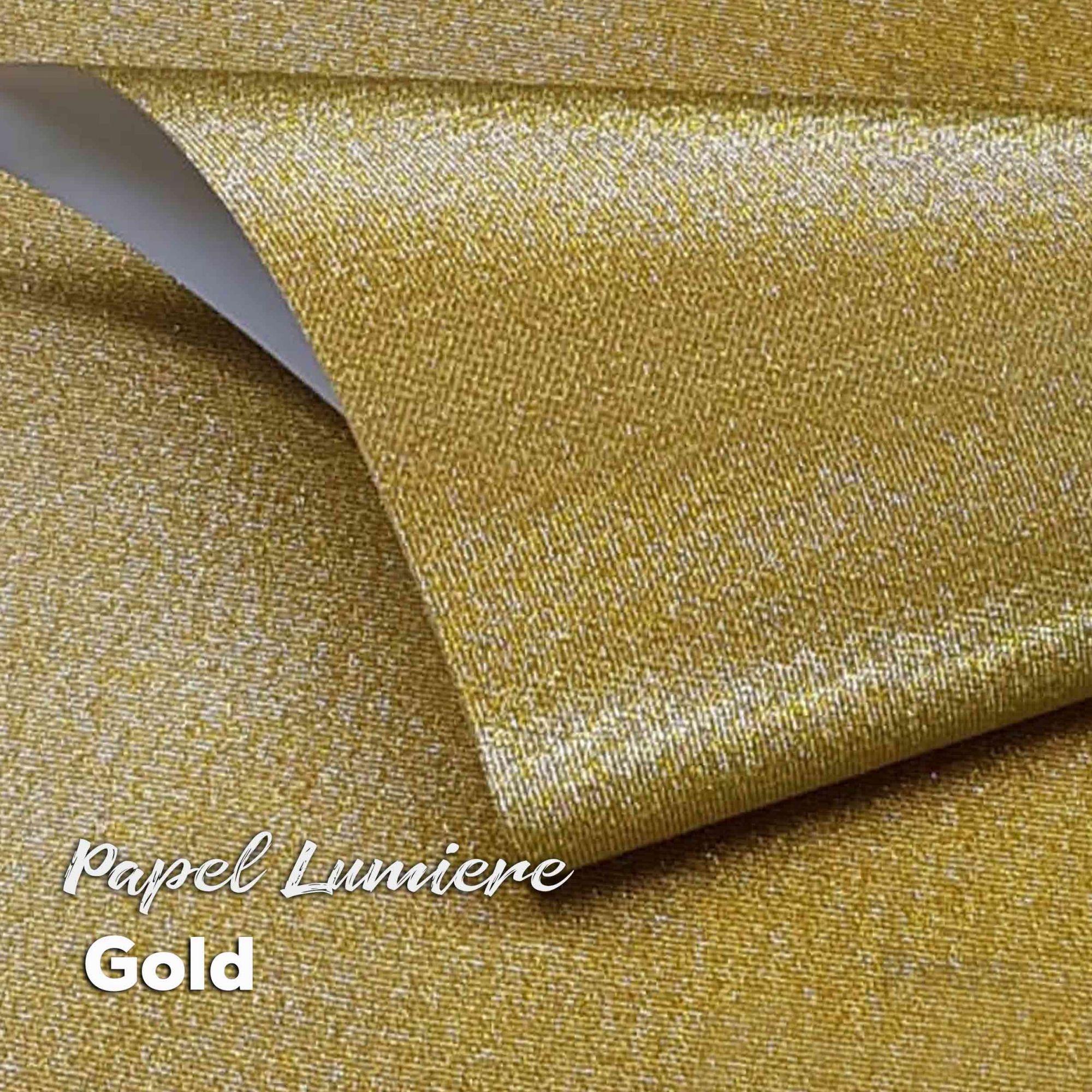 Papel Glitter Lumiere Gold 150g - Ouro 30,5x30,5cm com 6 folhas