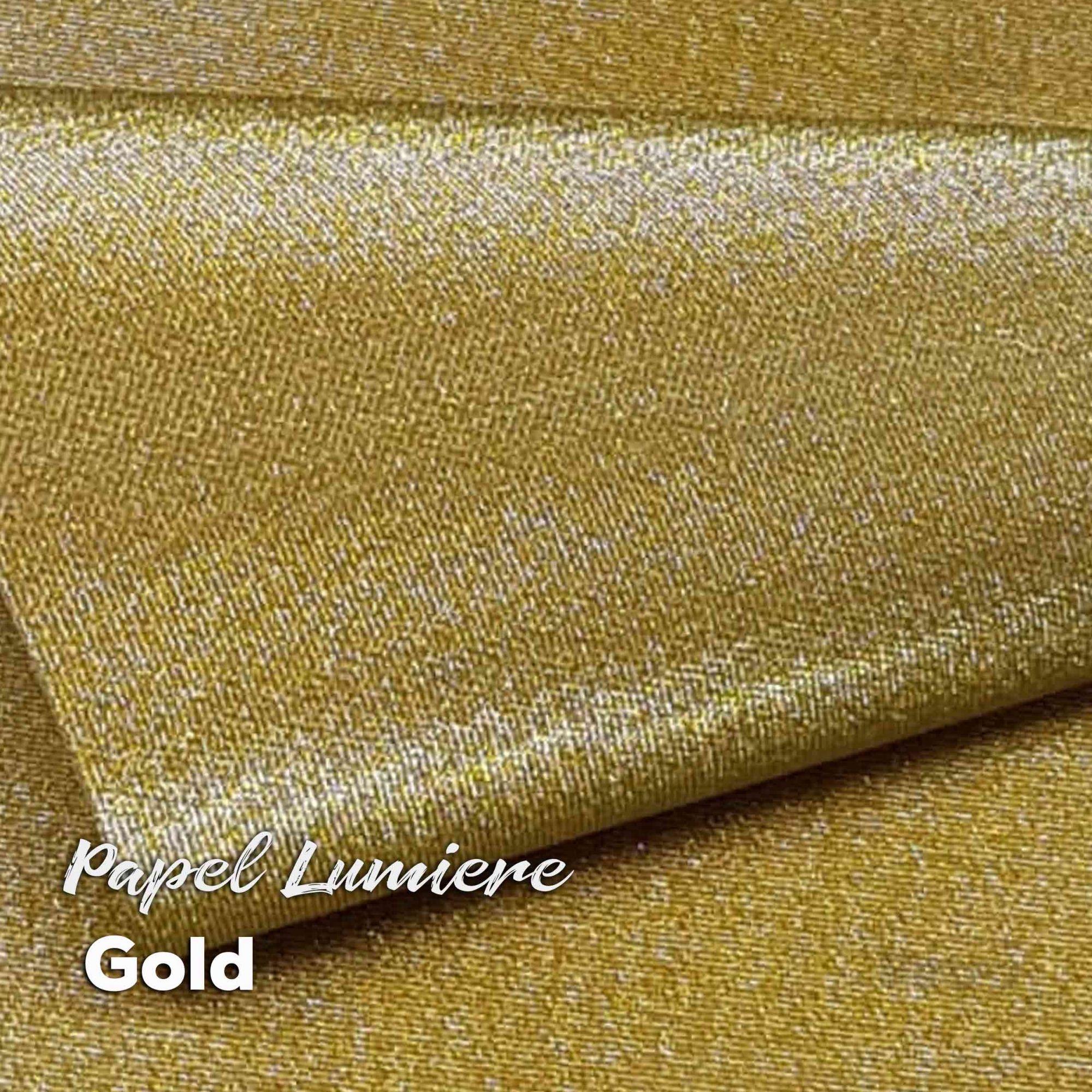 Papel Glitter Lumiere Gold 150g - Ouro - A4 com 10 folhas