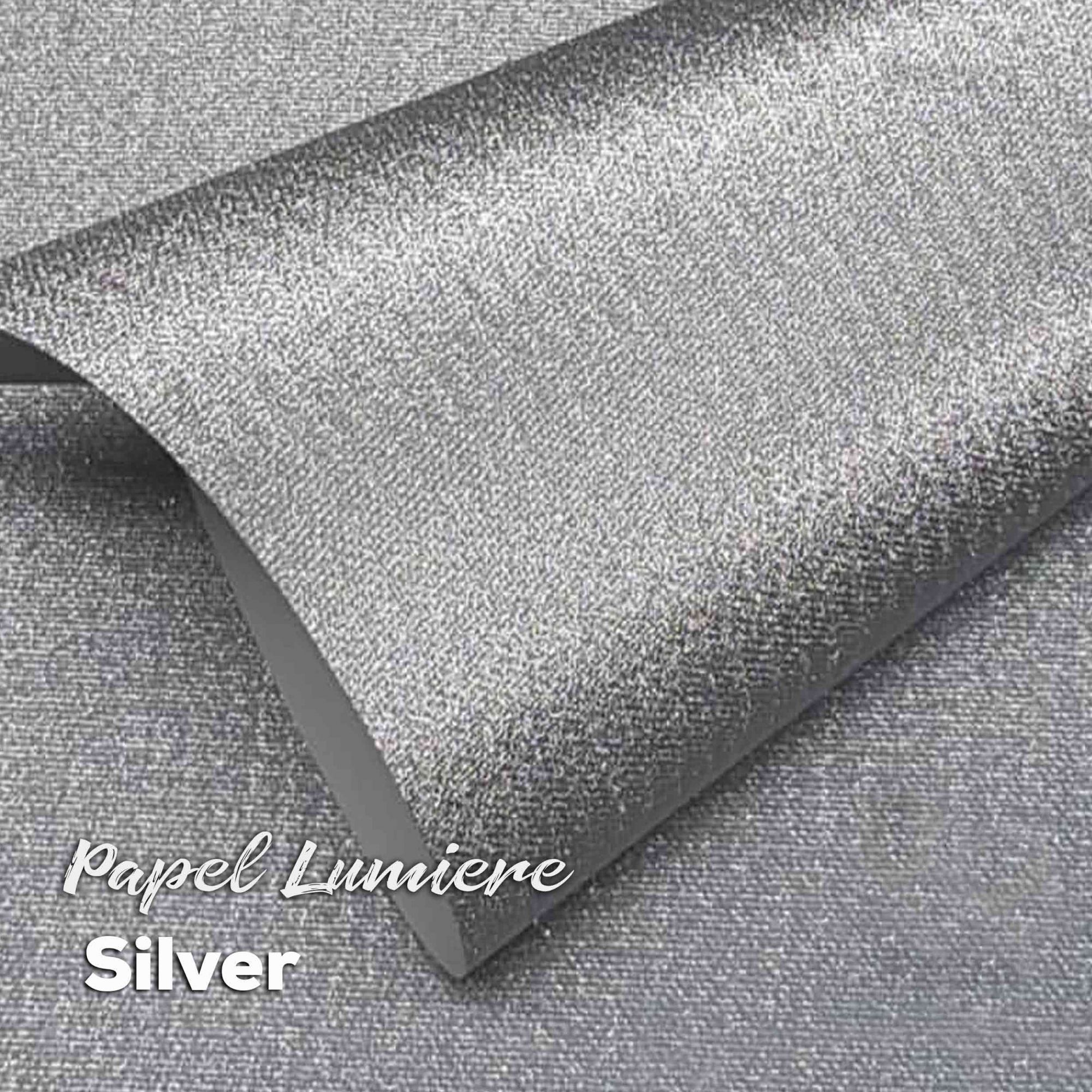 Papel Glitter Lumiere Silver 150g - Prata - A4 com 10 folhas