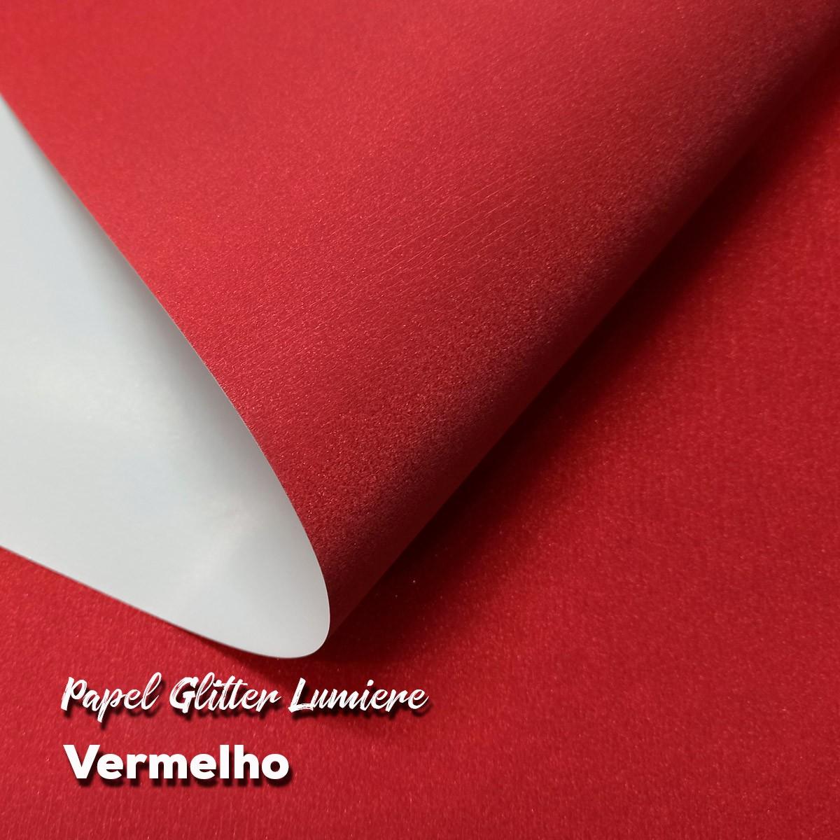 Papel Glitter Vermelho 150g - 30,5x30,5cm com 6 folhas