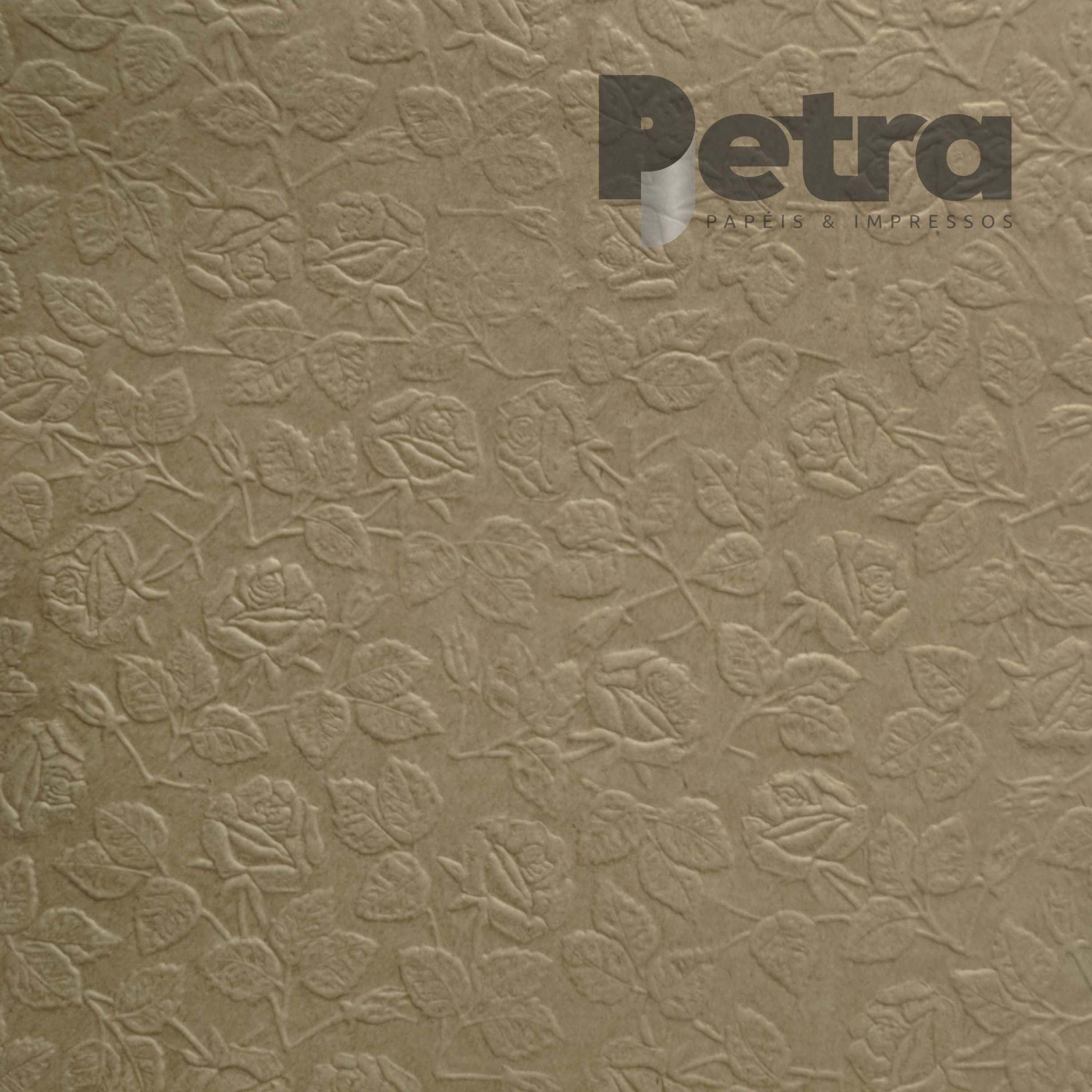 Papel Kraft com textura de Rosas - 300g/m2 - Tamanho 30,5x30,5cm - 6 Folhas