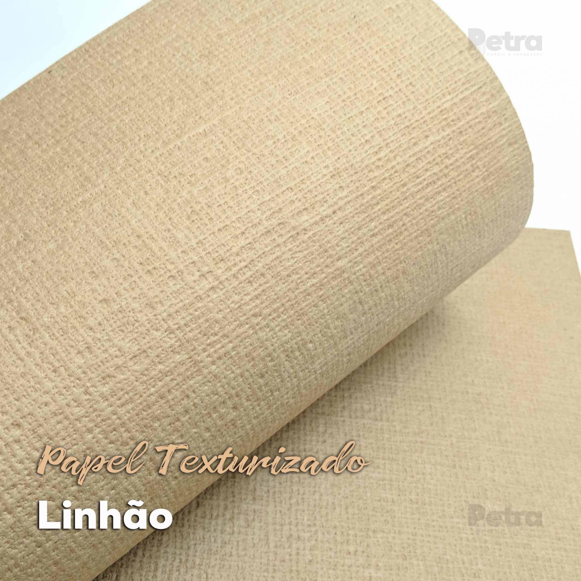 Papel Kraft com textura Linho ( Linhão)  300g/m2 - Tamanho 30,5x30,5cm - 6 Folhas