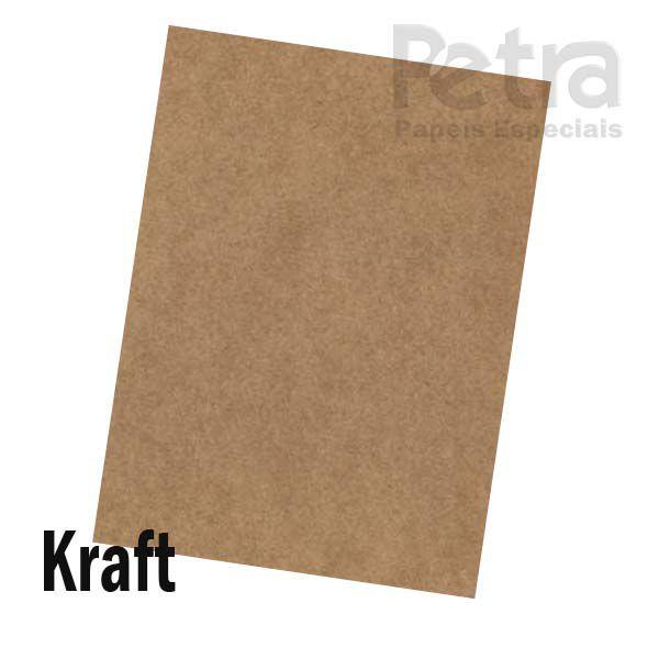 Papel Kraft - Tamanho  66x96 - 180g/m² - com 125 folhas