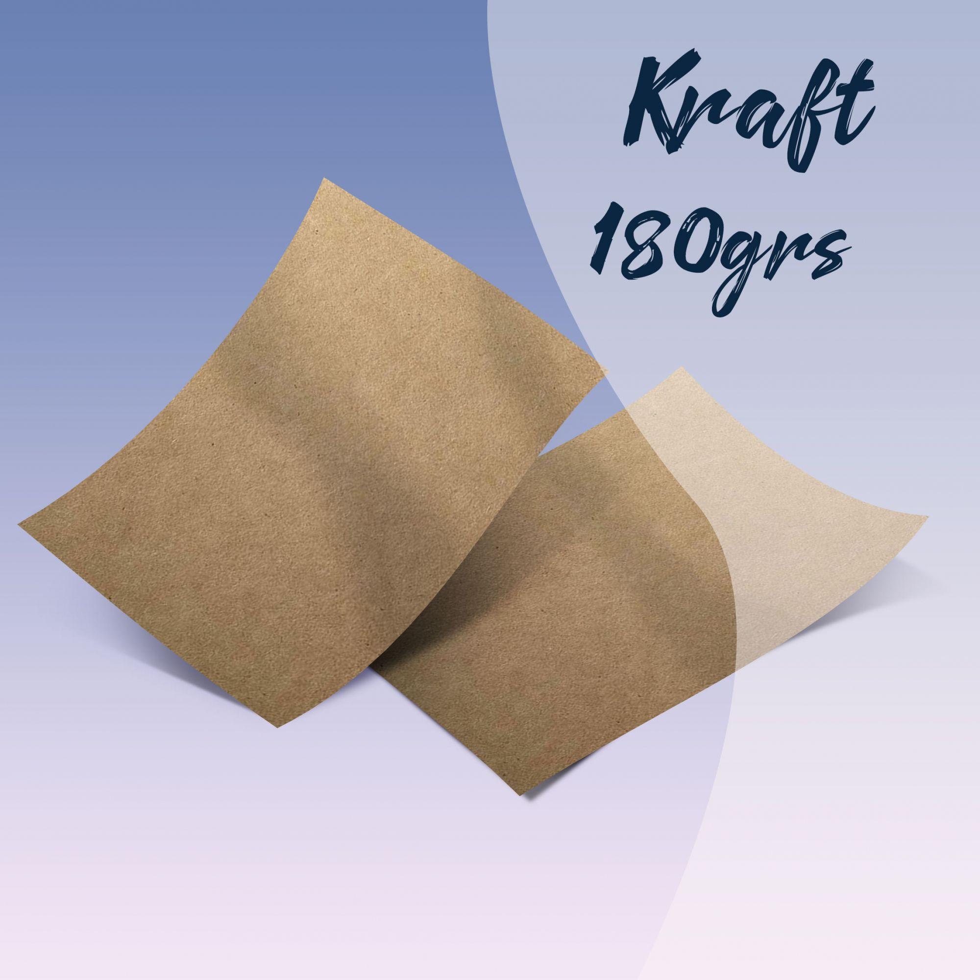 Papel Kraft - Tamanho A4 - 180g/m² - com 500 folhas