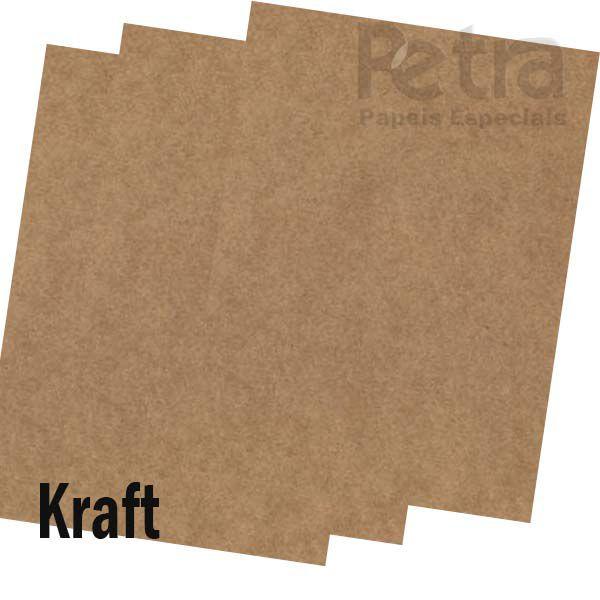 Papel Kraft - Tamanho especial 20,5x29 cm - 200g/m² - 100 folhas