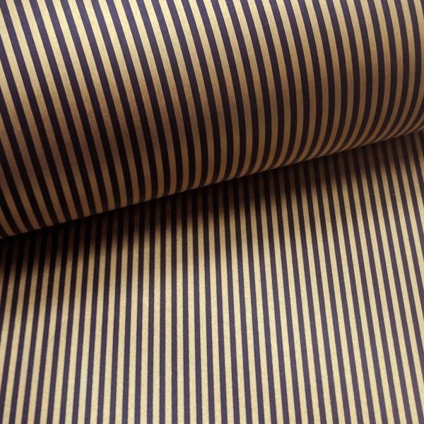 Papel Listrado - Marrom com Dourado - Tam. A4 - 180g/m²