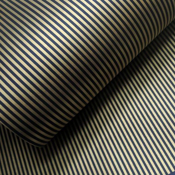 Papel Listrado - Preto com Dourado - Tam. 32x65cm - 180g/m²