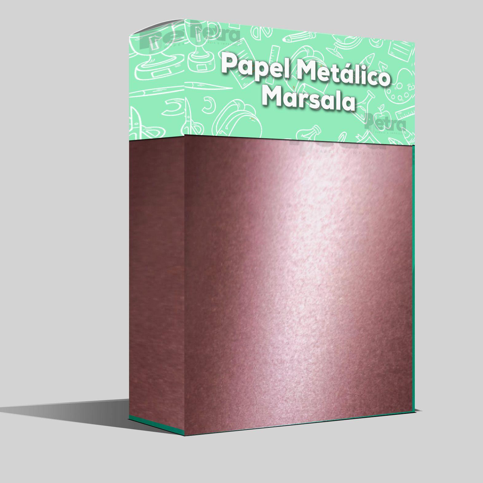Papel Marsala Metalico  Tam: 30,5x30,5 180g/m² com 20 folhas