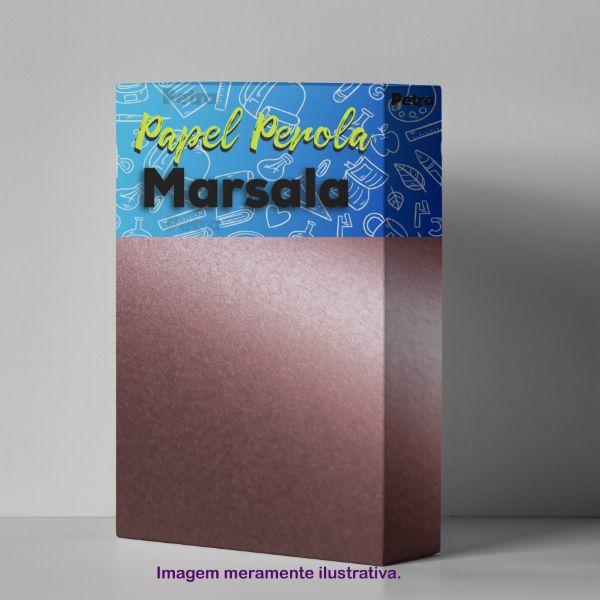 Papel Marsala Metalico  Tam: A4 180g/m² com 20 folhas