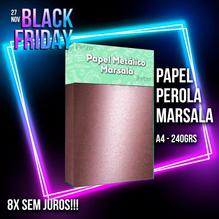 Papel Marsala Metalico  Tam: A4 240g/m² com 20 folhas