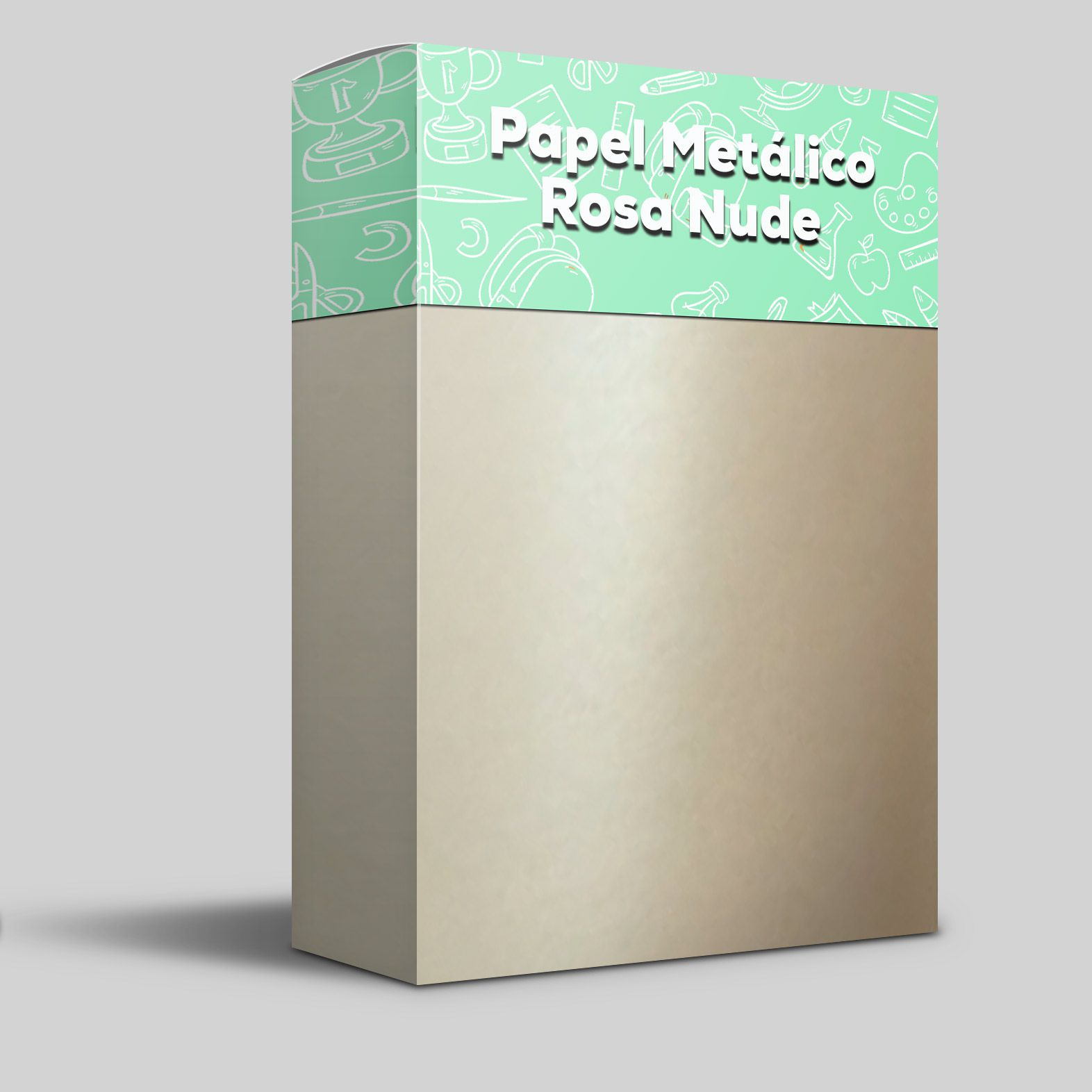 Papel Metálico Nude Tam: 30,5x30,5 180g/m² com 20 folhas