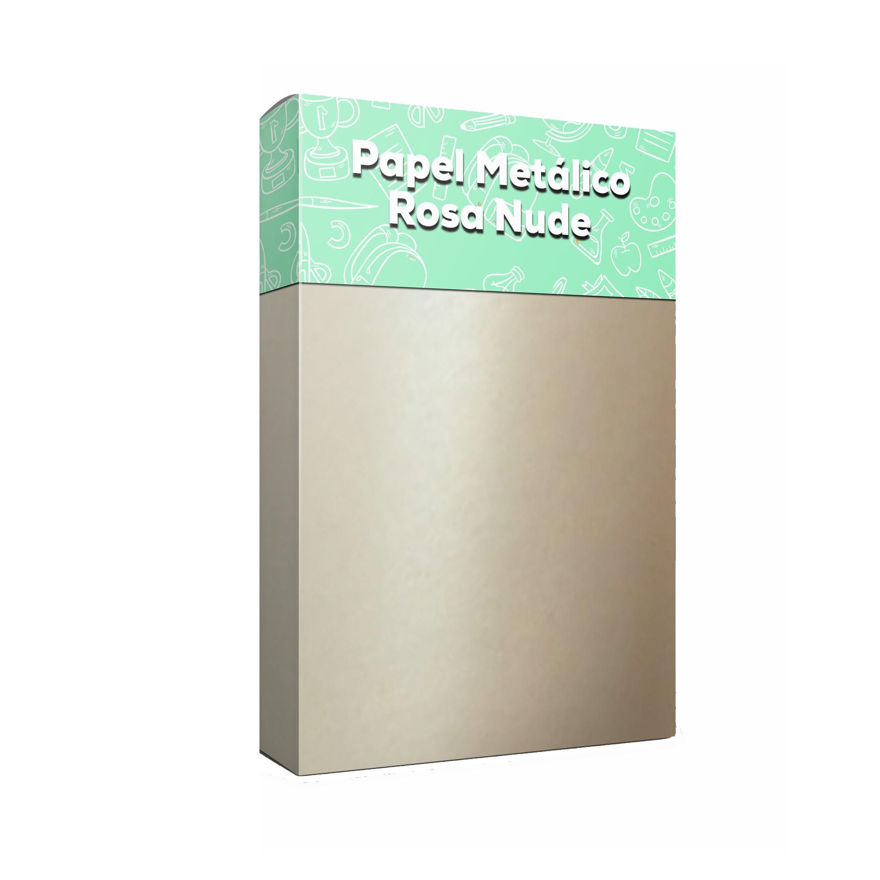 Papel Metálico Nude Tam: A4 180g/m² com 20 folhas