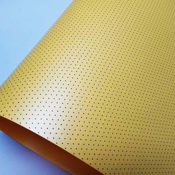 Papel Mini Poás - Pérola Amarelo com Preto - Tam. 32x65cm - 180g/m²