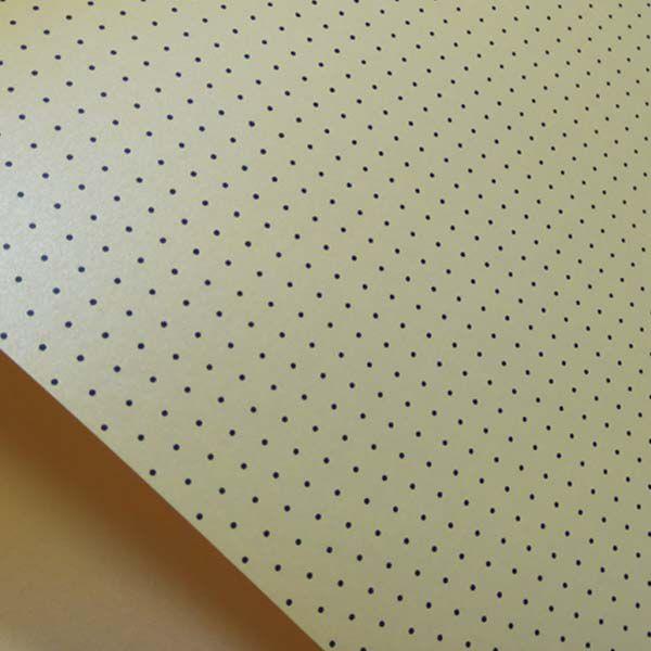 Papel Mini Poás - Pérola Amarelo com Preto - Tam. 47x65cm - 180g/m²