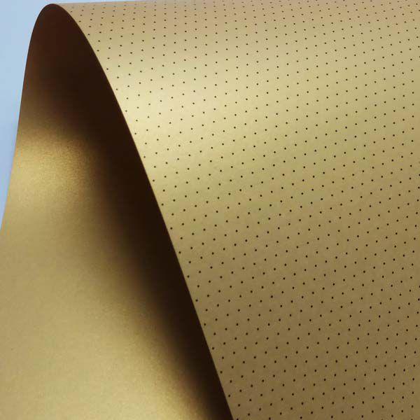Papel Mini Poás - Pérola Ouro com Preto - Tam. 32x65cm - 180g/m²