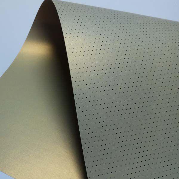 Papel Mini Poás - Pérola Ouro Platino com Preto - Tam. 32x65cm - 180g/m²
