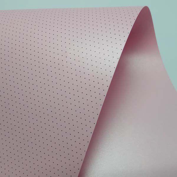 Papel Mini Poás - Pérola Rosa Claro com Preto - Tam. 30,5x30,5cm - 180g/m²