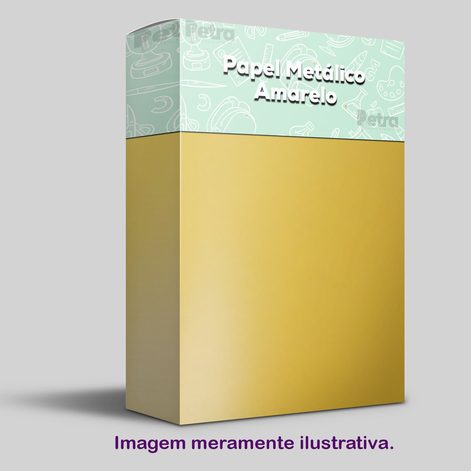 Papel Pérola Amarelo Tam. 30,5x30,5 - 180g/m²