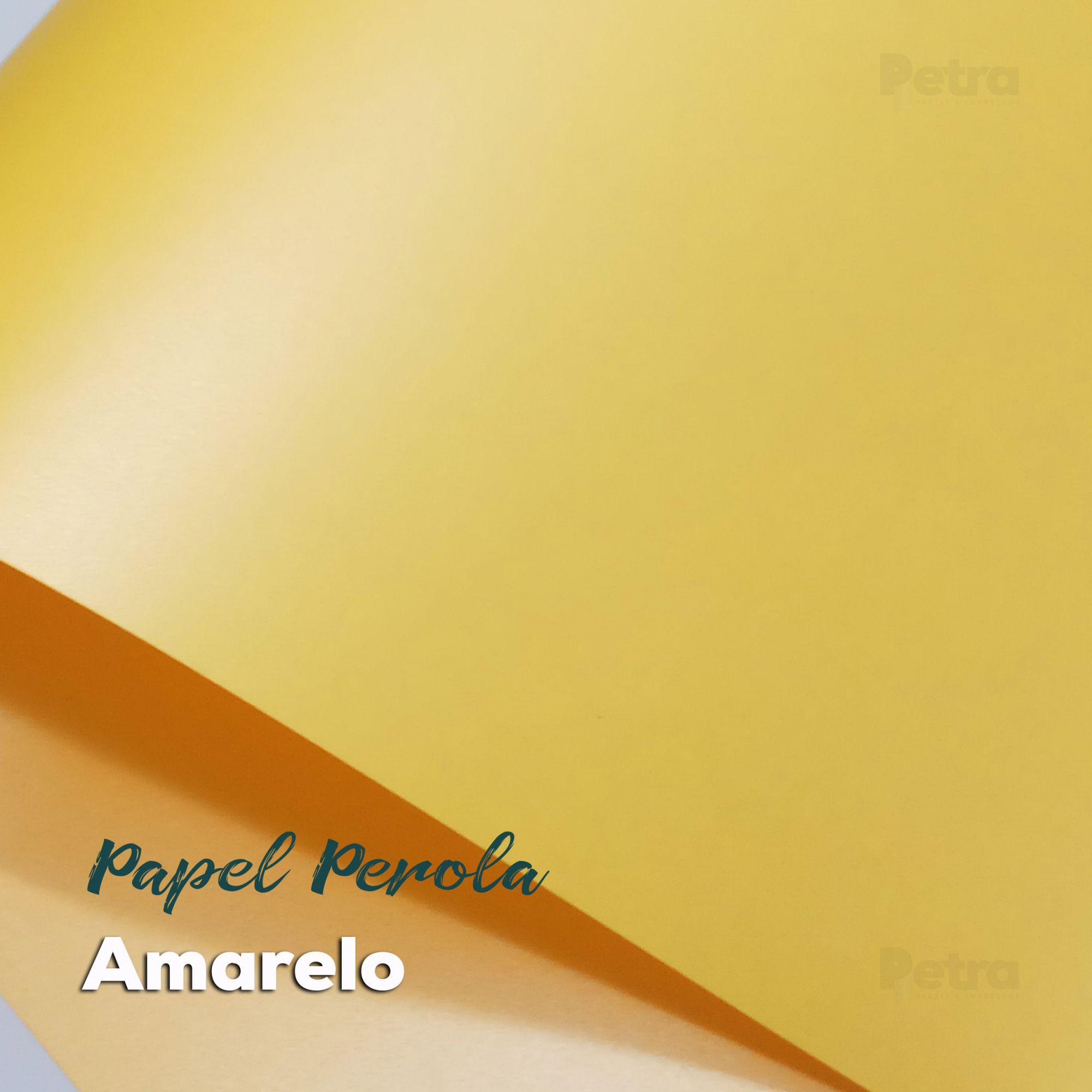 Papel Pérola Amarelo Tam: 66x96cm 180g/m²  com 10 folhas