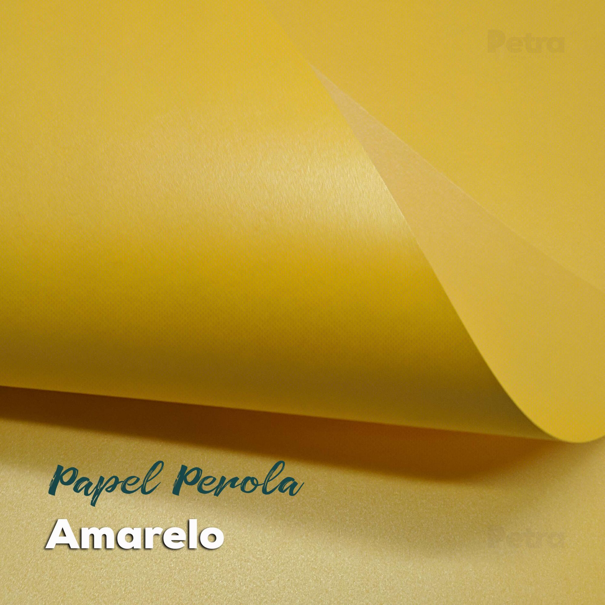 Papel Pérola Amarelo Tam: A4 180g/m²