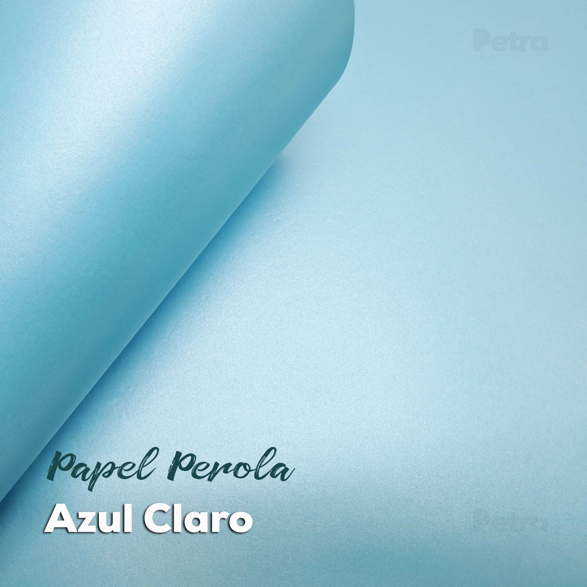 Papel Pérola Azul Claro Tam. 30,5x30,5 - 180g/m²
