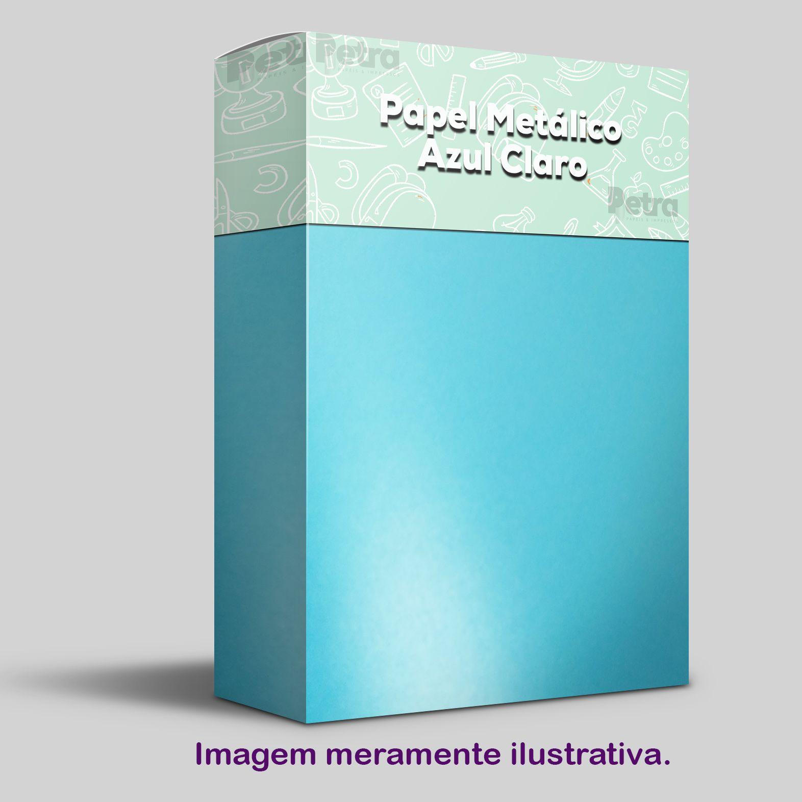 Papel Pérola Azul Claro Tam. 30,5x30,5 - 240g/m²