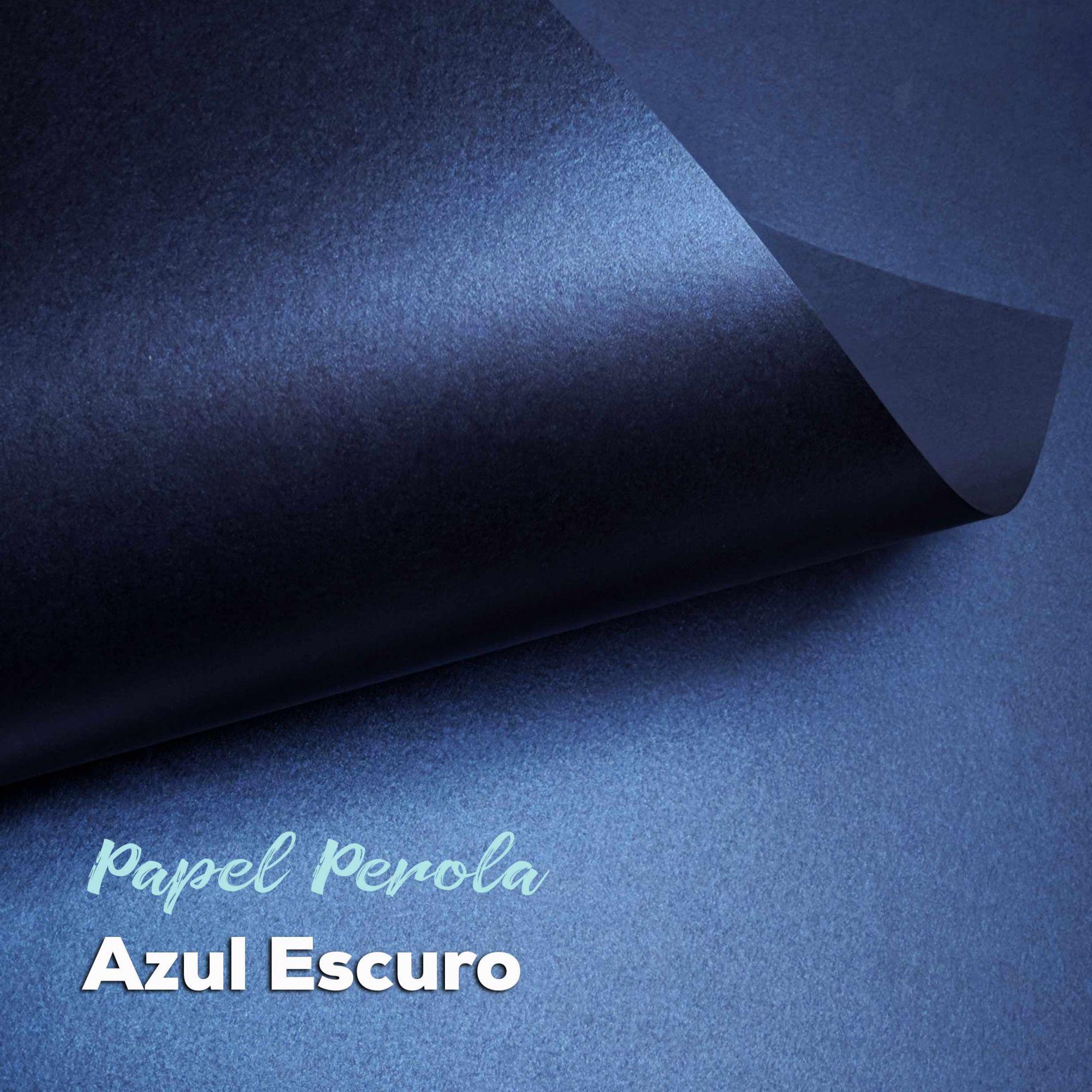 Papel Pérola Azul Escuro Tam: 48x66cm 180g/m²