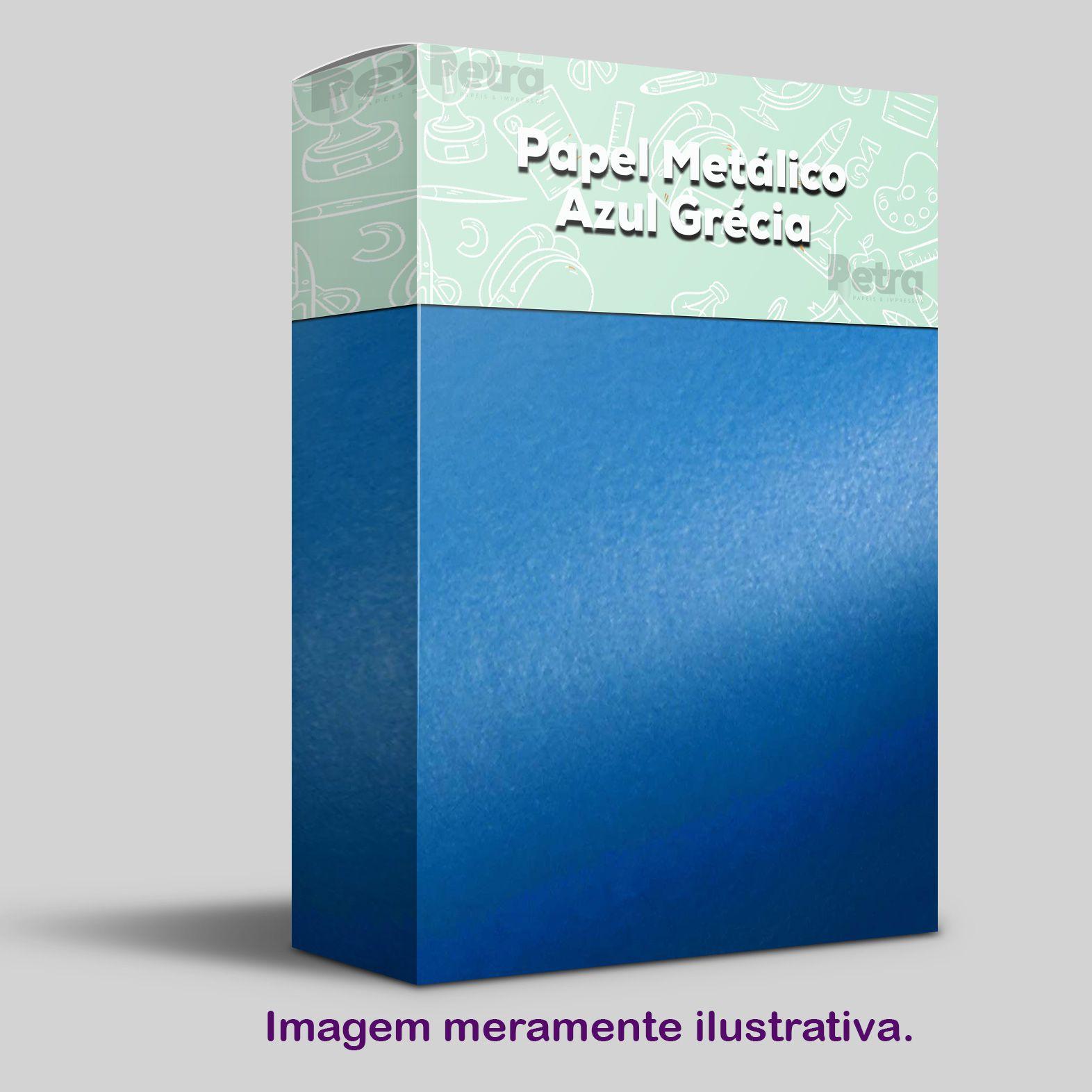 Papel Pérola Azul Grécia Tam. 30,5x30,5 - 180g/m²