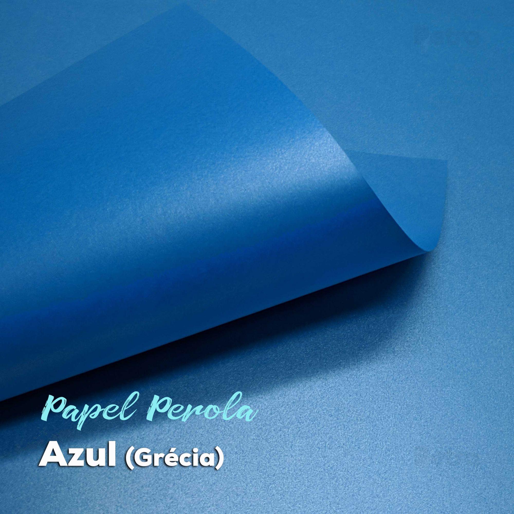 Papel Pérola Azul Grécia Tam: 48x66cm 180g/m²