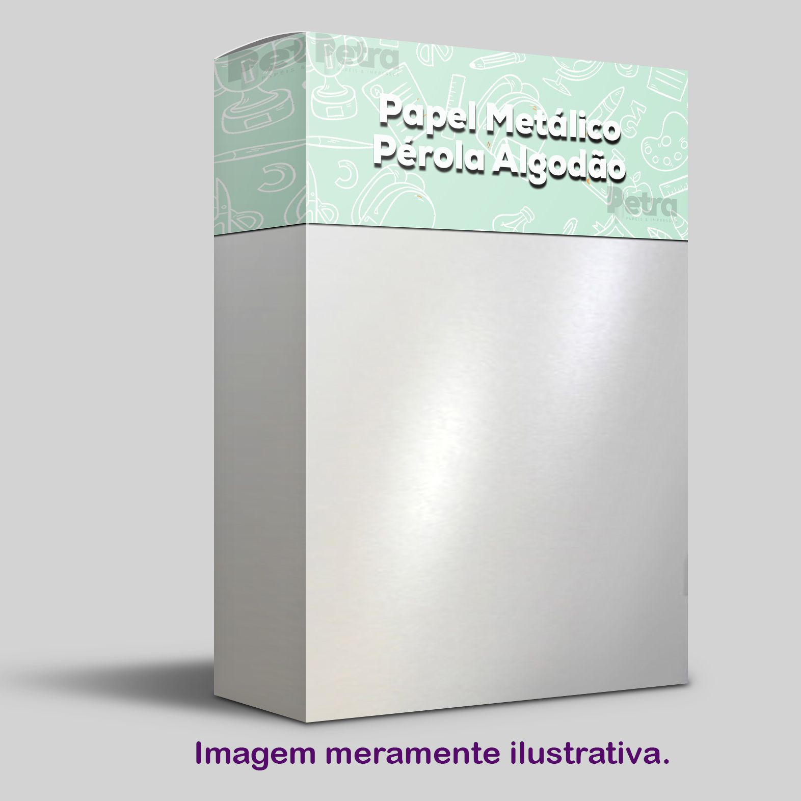 Papel Pérola Branca Tam. 30,5x30,5 - 240g/m²