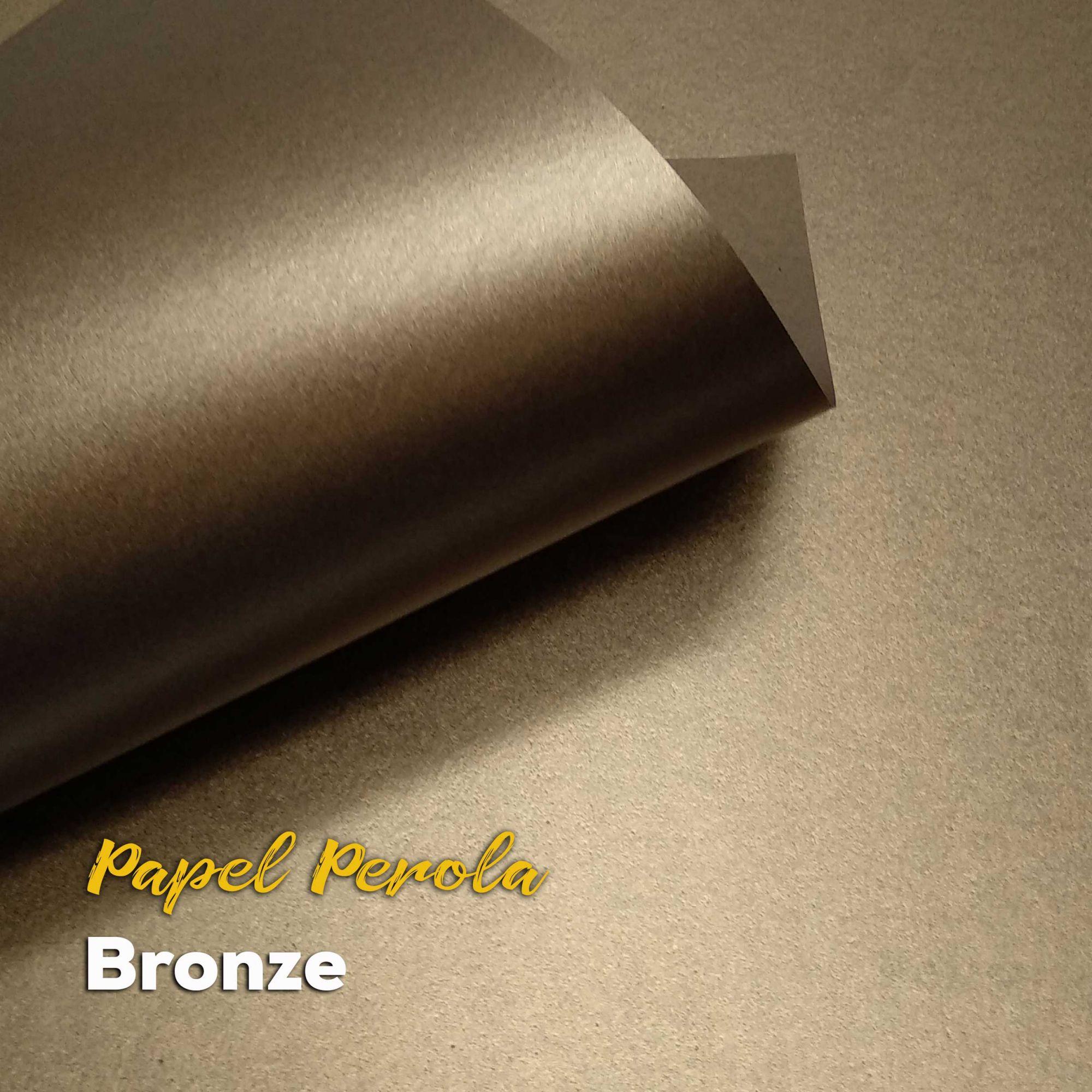 Papel Pérola Bronze Tam: 66x96cm 180g/m² Com 10 folhas