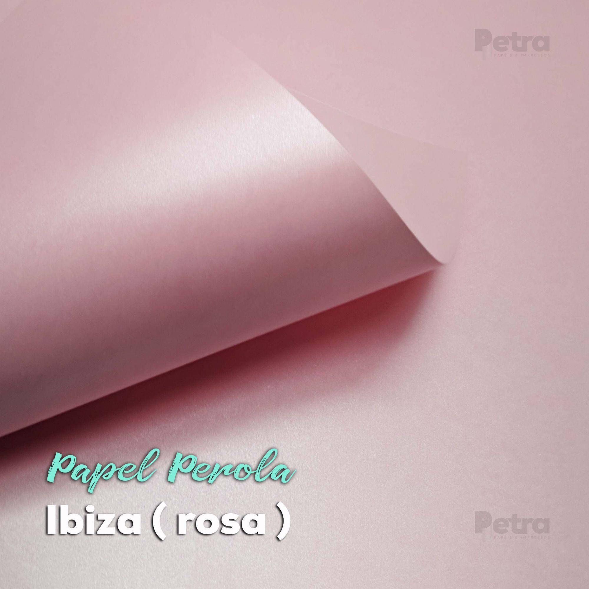 Papel Pérola Ibiza -  Rosa Claro Tam: 48x66cm 180g/m²
