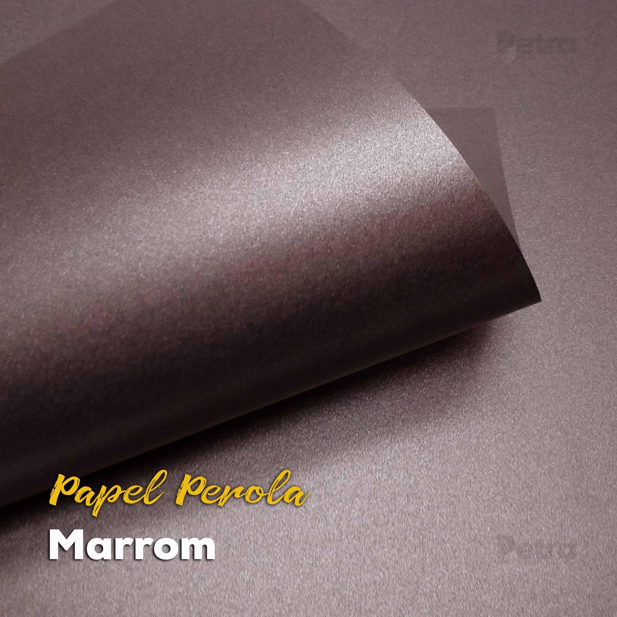 Papel Pérola Marrom Tam: 66x96cm 180g/m²  com 10 folhas