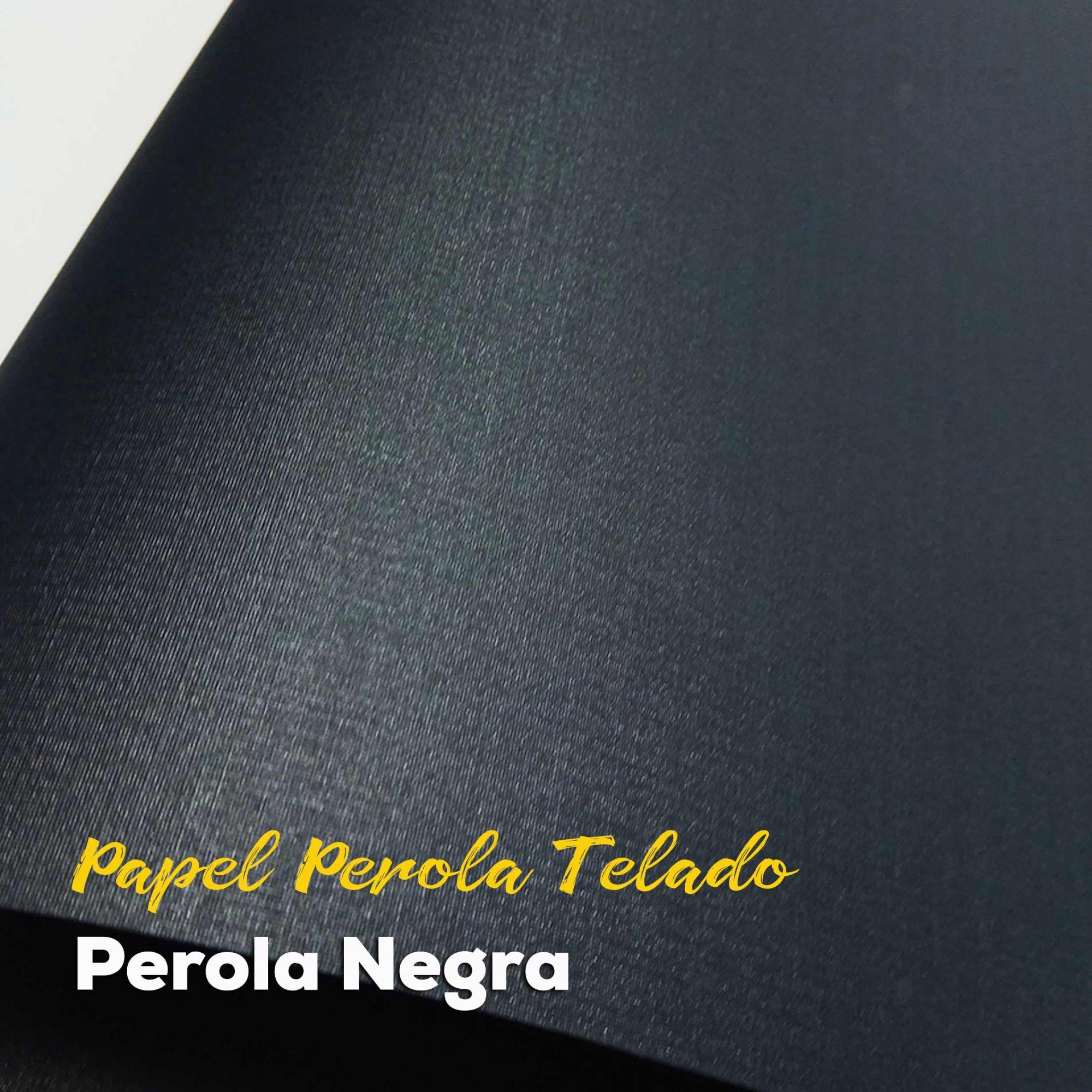 Papel Pérola Negra Telado  Tam: A4 180g/m²