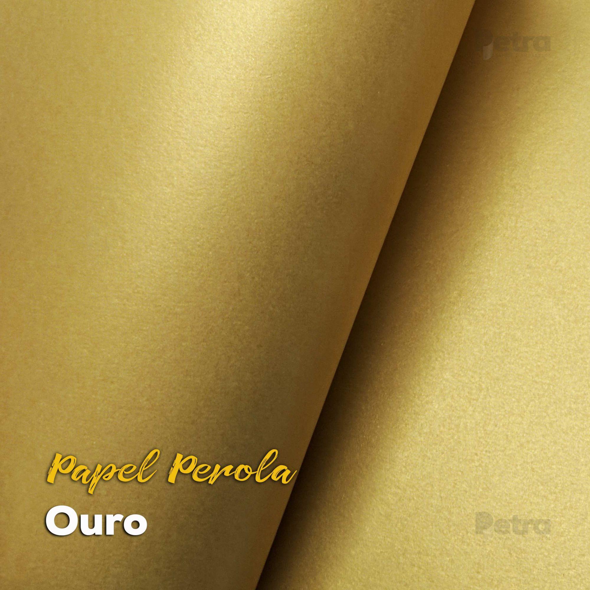 Papel Pérola Ouro Tam: A4 180g/m²