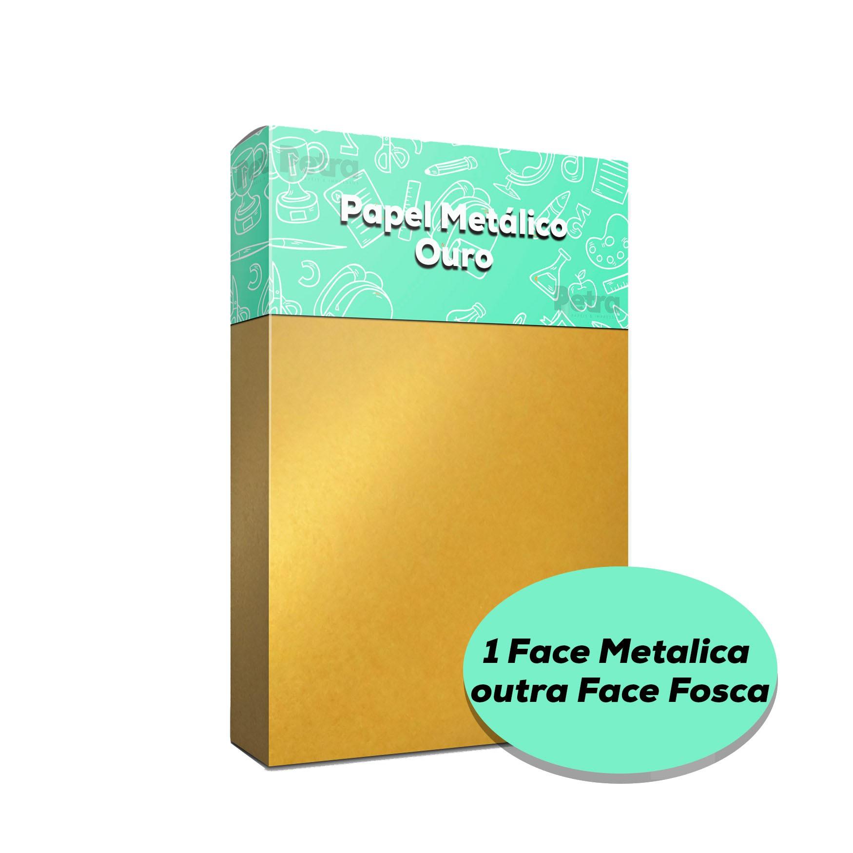 Papel Pérola Ouro Vivo - 1 Face Tam: A4 180g/m²  - Com 50 folhas