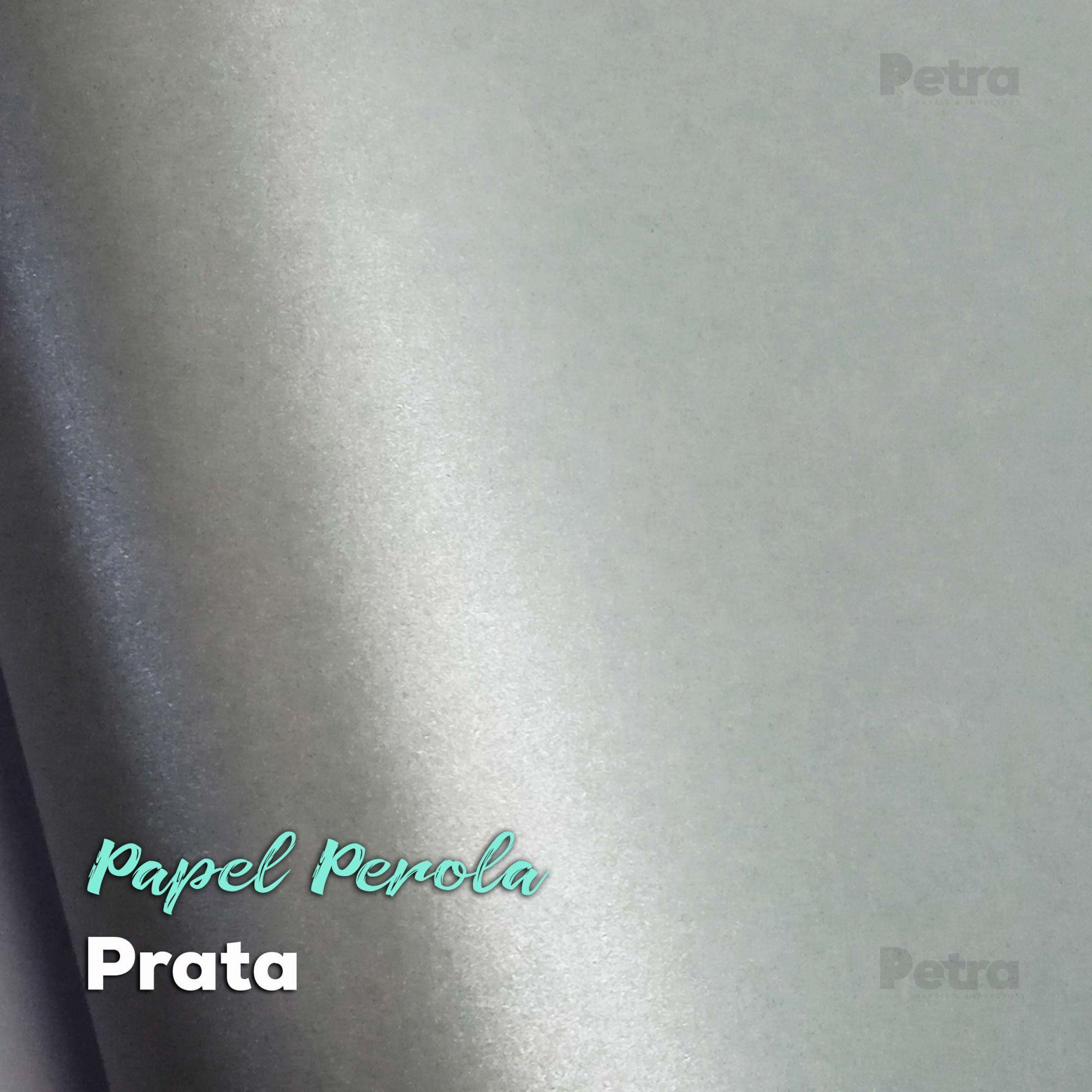 Papel Pérola Prata Tam: A4 180g/m²
