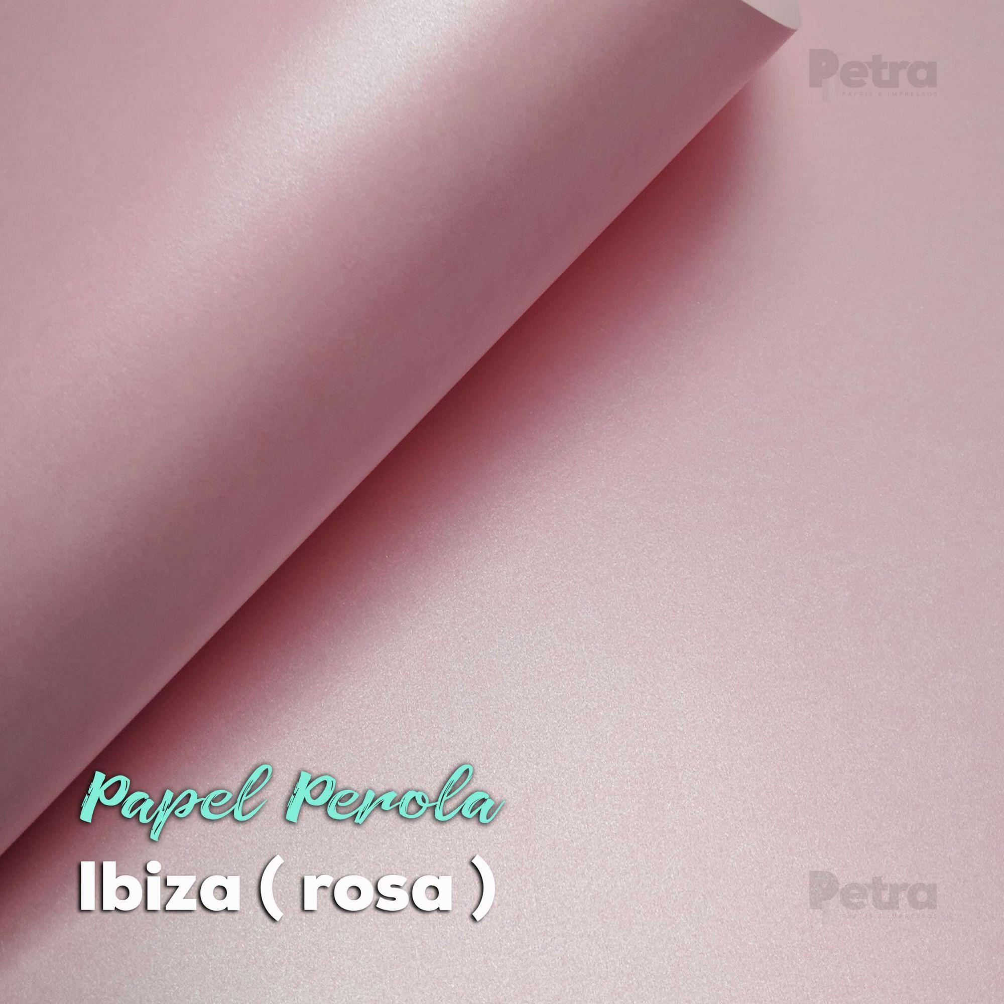 Papel Pérola Ibiza Rosa Claro Tam: 66x96cm 180g/m² com 10 folhas