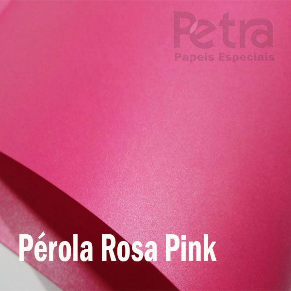 Papel Pérola Rosa Pink Tam: A4 180g/m²