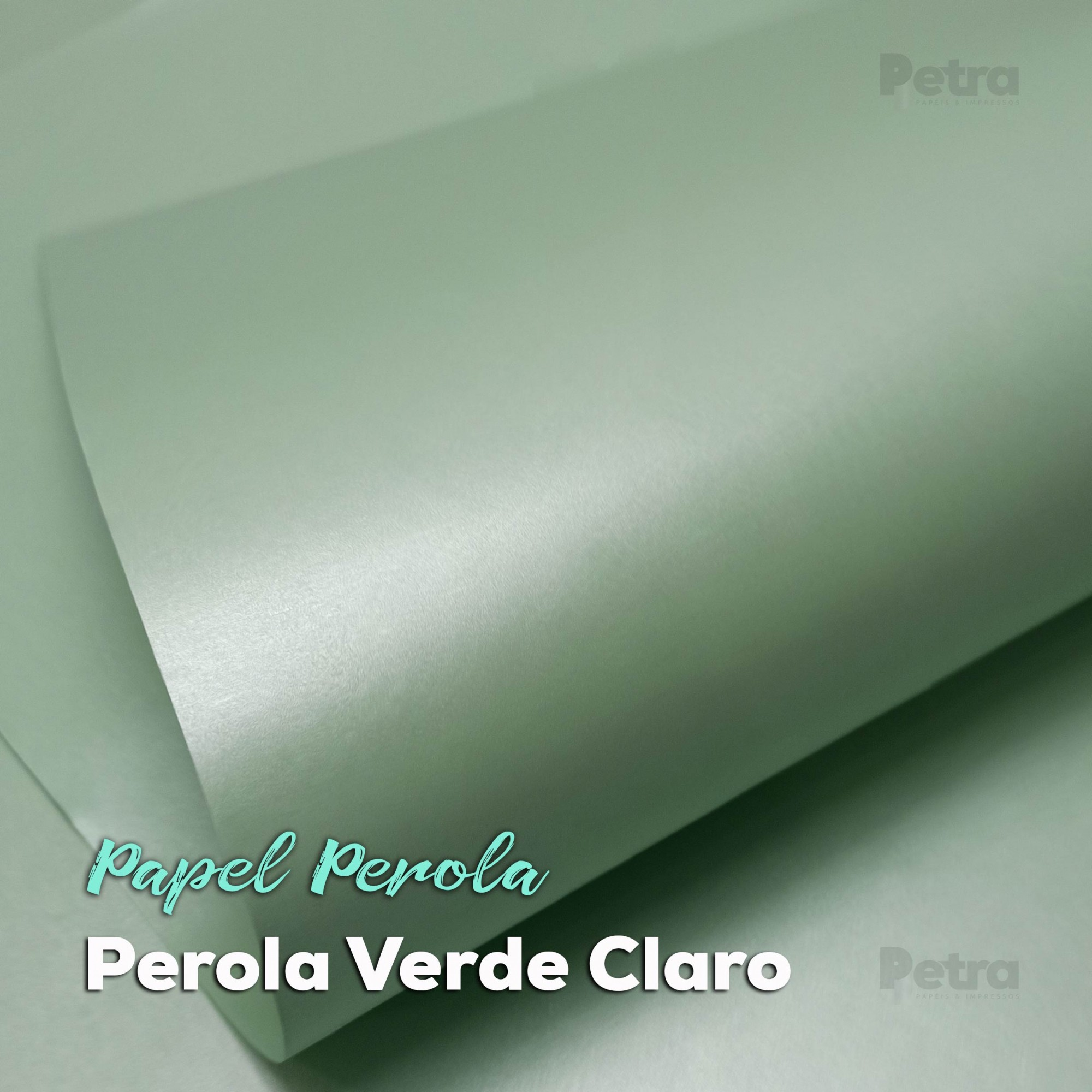 Papel Pérola Verde Claro Tam. A3 - 180g/m²