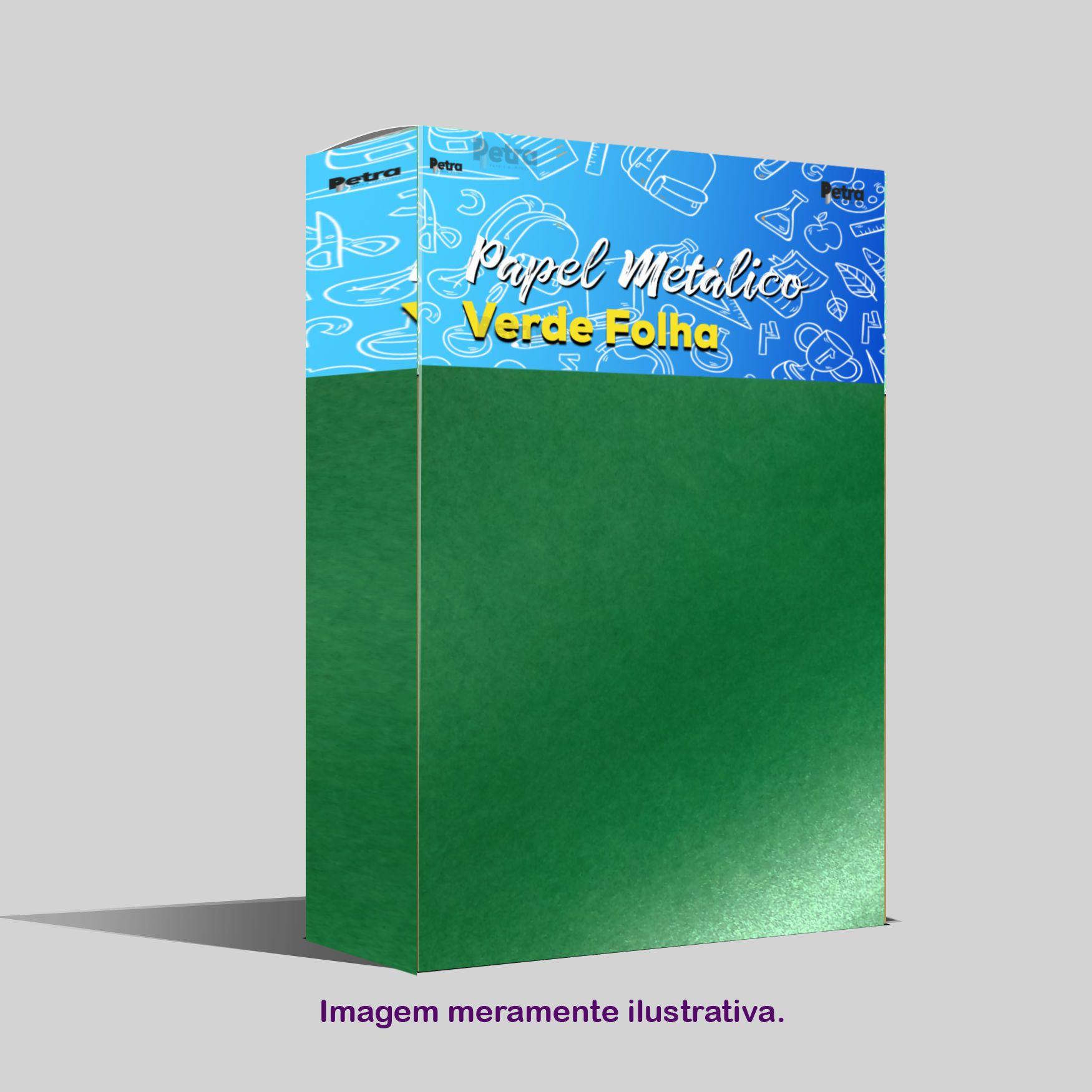 Papel Pérola Verde Folha Tam. 30,5x30,5 - 180g/m²