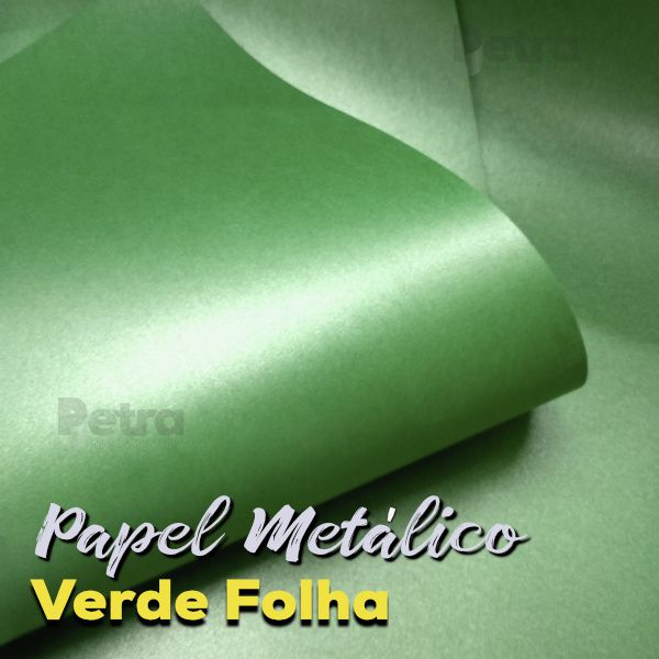 Papel Pérola Verde Folha Tam: A4 180g/m²