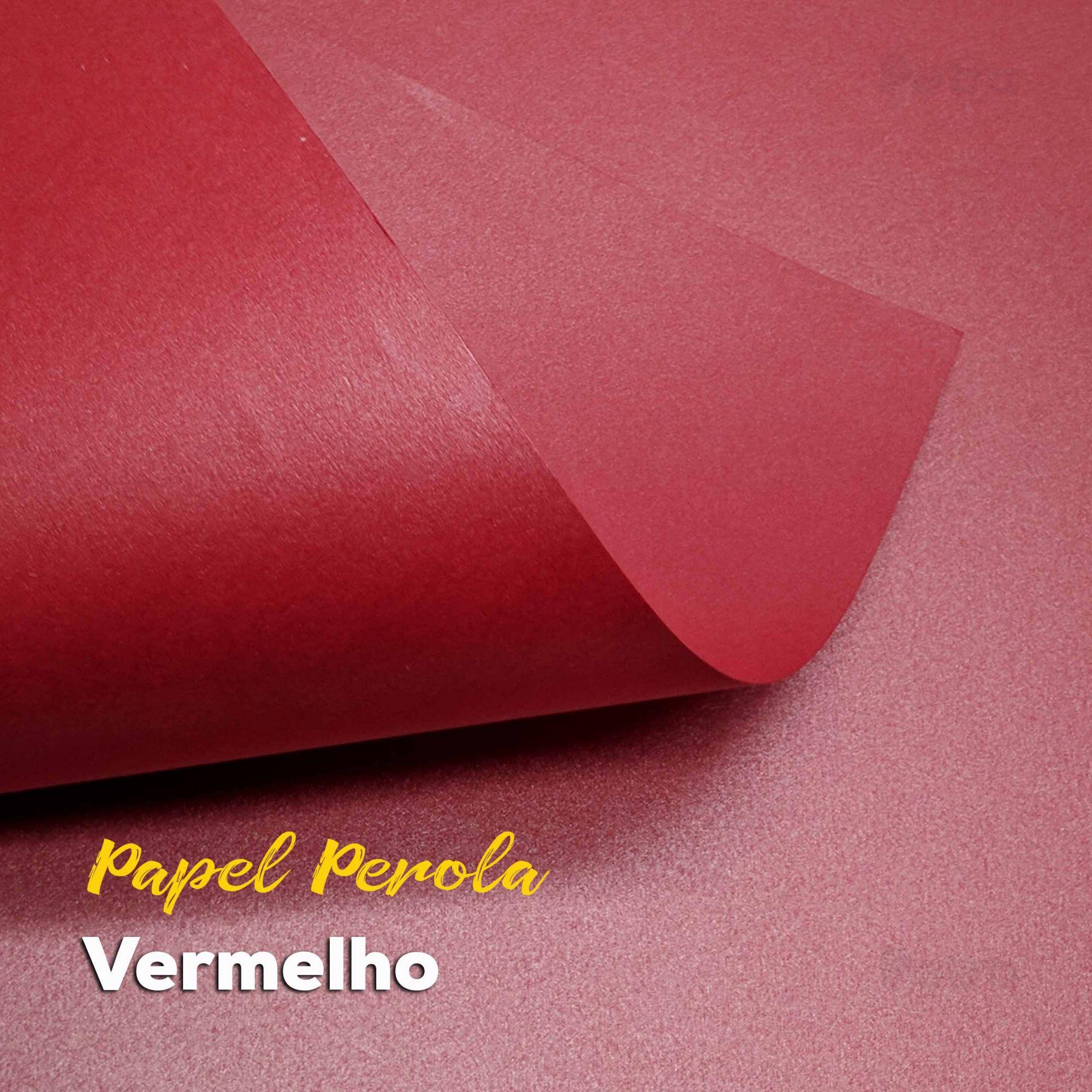 Papel Pérola Vermelho Tam: 48x66cm 180g/m²
