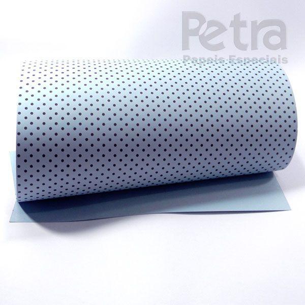 Papel Poás - Azul com Marrom - Tam. 32x65cm - 180g/m²