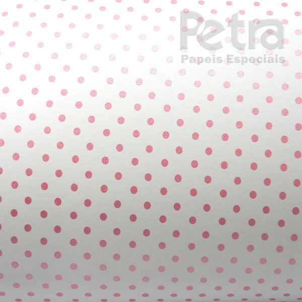 Papel Poás - Branco com Rosa - Tam. 30,5x30,5 - 180g/m²