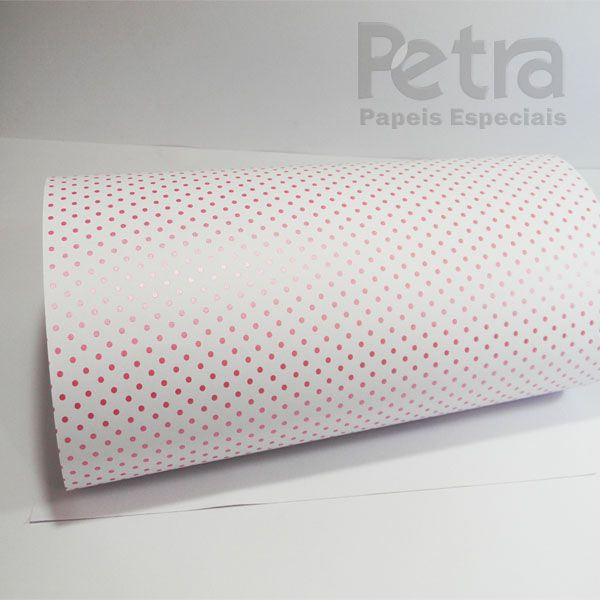 Papel Poás - Branco com Rosa - Tam. 47x65cm - 180g/m²