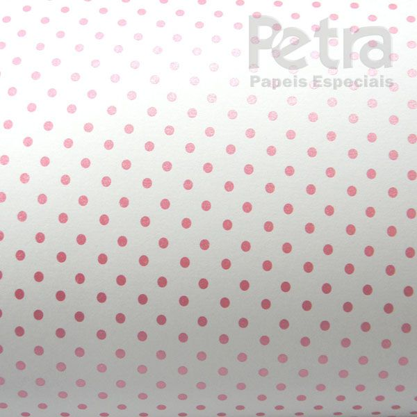 Papel Poás - Branco com Rosa - Tam. A4 - 180g/m²