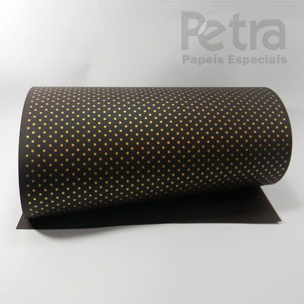 Papel Poás - Marrom com Dourado - Tam. 30,5x30,5 - 180g/m²