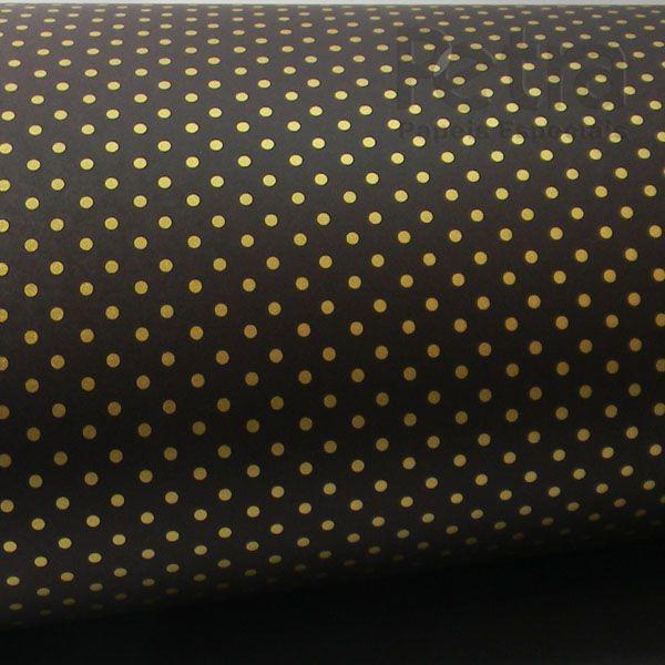Papel Poás - Marrom com Dourado - Tam. 32x65cm - 180g/m²