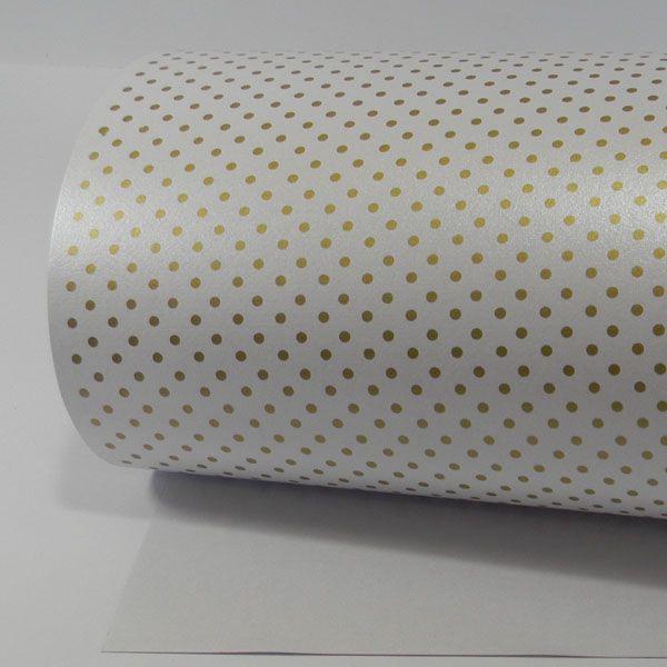 Papel Poás - Pérola Branca com Dourado - Tam. A3 - 180g/m²